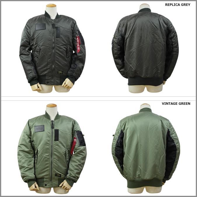 Alpha 阿尔法工业马-1 飞行夹克男装军事收据 2 颜色 MA1 涡轮飞行夹克