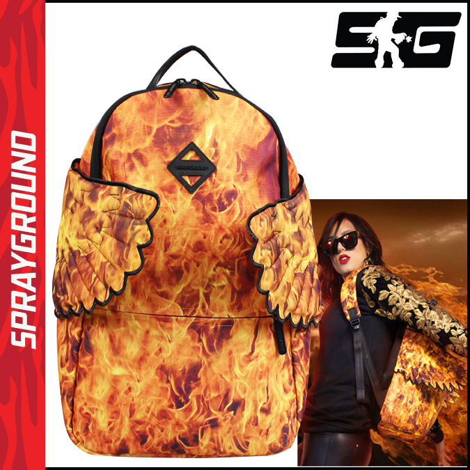 Spray ground SPRAY GROUND Backpack Backpack mens ladies new B294 fire HADES FIRE WINGS