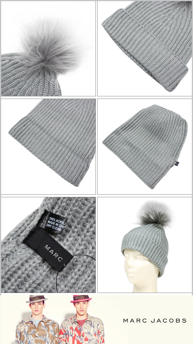 89797b70dac Point 2 x mark by Mark Jacobs MARC BY MARC JACOBS knit hat Beanie men s  women s knit Cap Hat 2014 new 4 colors FA14 ACRYLIC POM BEANIE unisex  11    17 new ...
