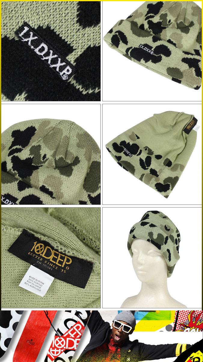 d52821d5152 ALLSPORTS  Deep transcontinetal 10 DEEP knit hat Beanie men s knit ...