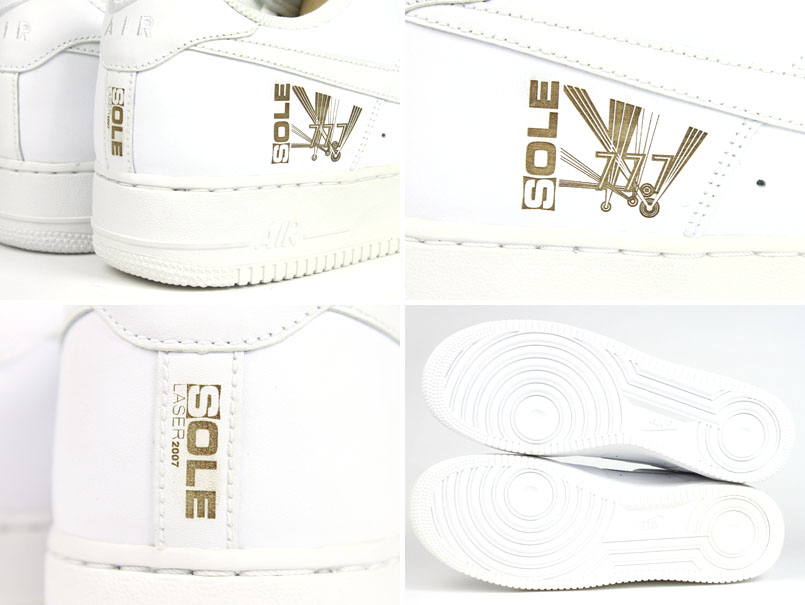 NIKE Nike AIR FORCE1 LOW [SOLE COLLECTOR] white white NIKE Air Force One low sole collector white limited model