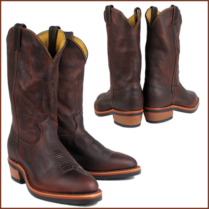 b43ce413da10c [SOLD OUT]-Chippewa CHIPPEWA Western boots [Brown] 20012 12INCH BRIAR  PITSTOP WELLINGTON D wise EE wise leather men's [regular]