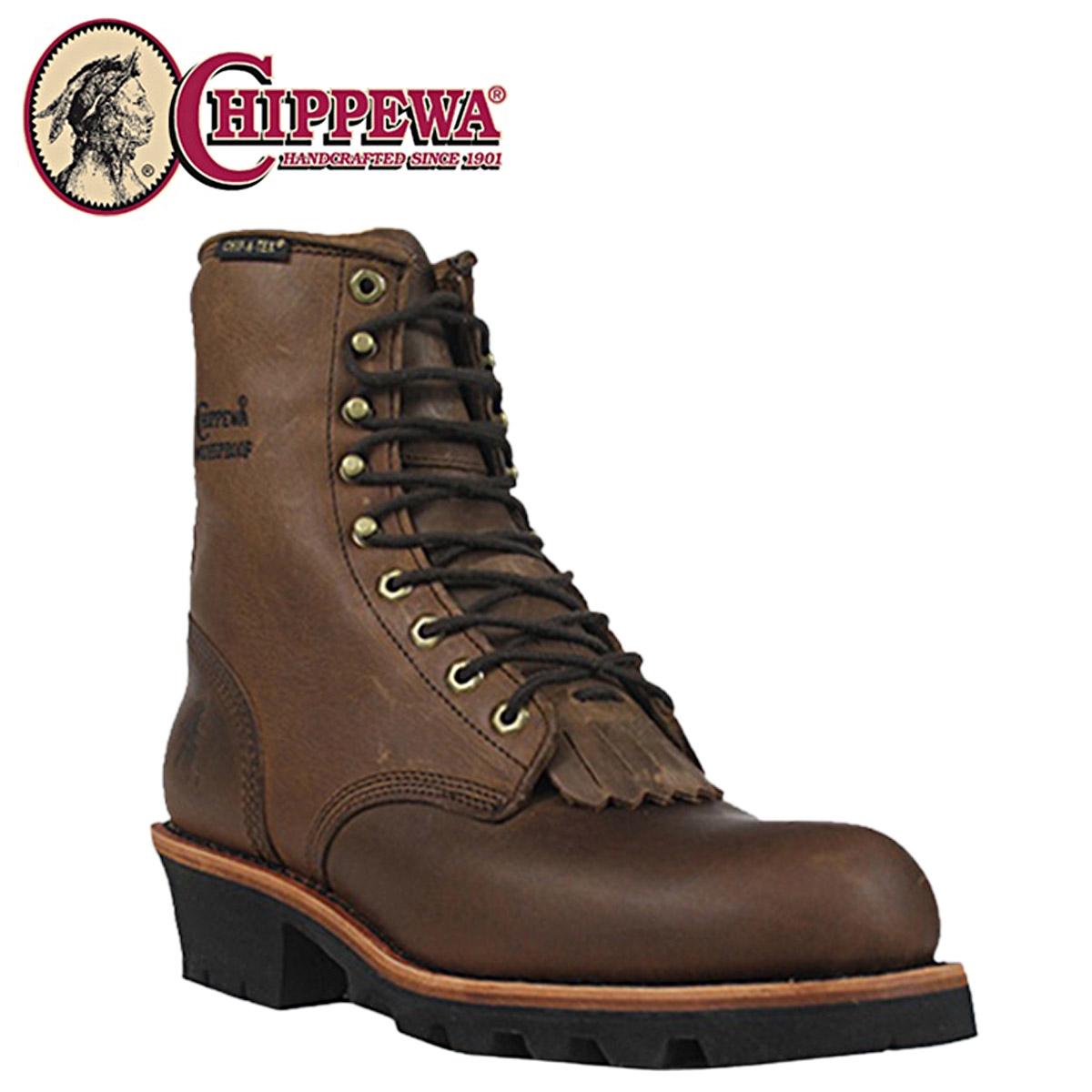 1d3ce950c9e Chippewa CHIPPEWA 8-inch logger boots [Bay Apache] 26340 8INCH BAY APACHE  WATERPROOF INS LOGGER 2 wise LEATHER men's BAY APACHE WATERPROOF