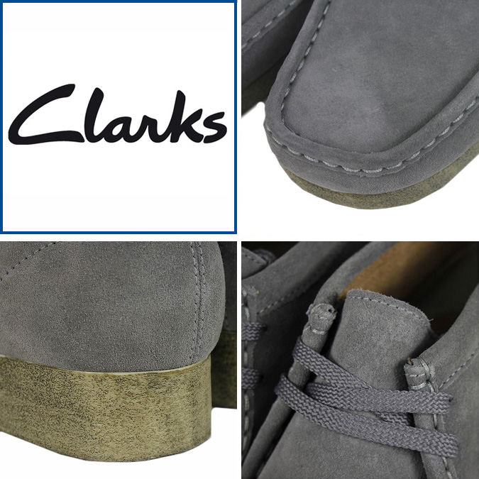 Clarks CLARKS Padmore boot Wallaby 30259 PADMORE SUEDE mens GREY WALLABEE