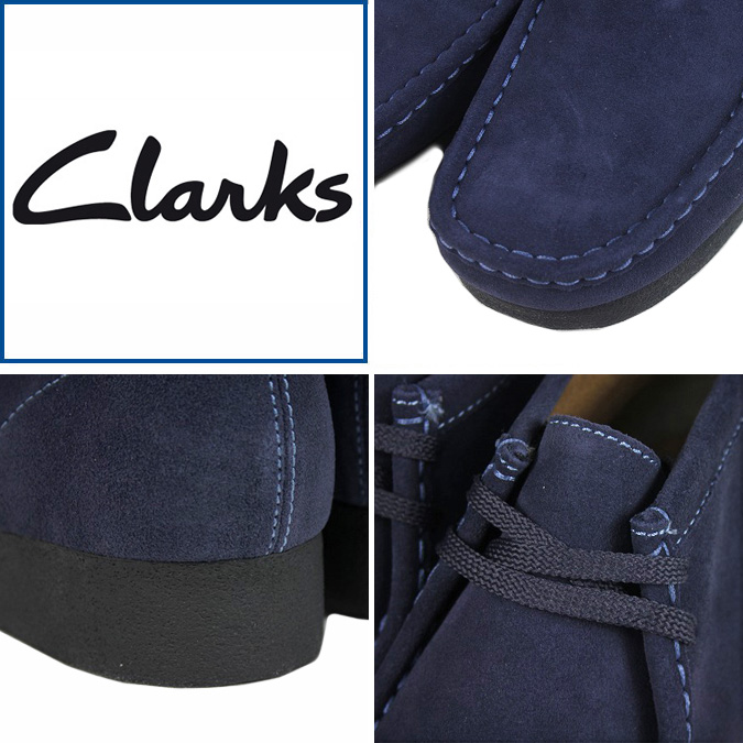 [SOLD OUT] Clarks CLARKS Padmore Wallaby boots [Navy] 61807 PADMORE SUEDE mens NAVY WALLABEE