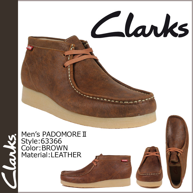 [SOLD OUT] Clarks CLARKS Padmore Wallaby boots [Brown] 63366 PADMORE 2 leather mens BROWN [regular]