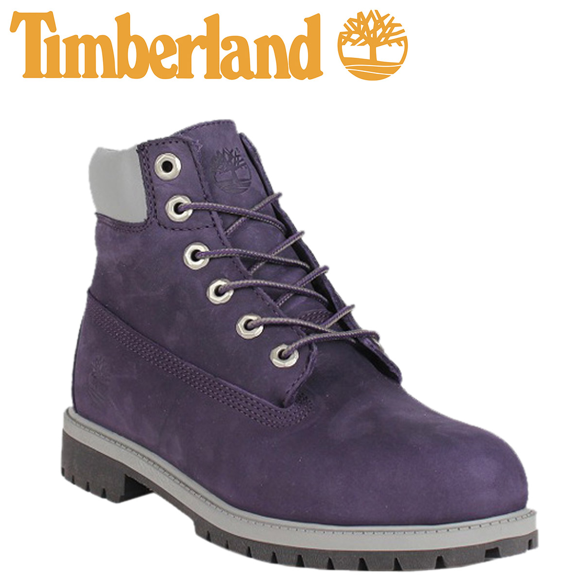 purple timberland boots for juniors