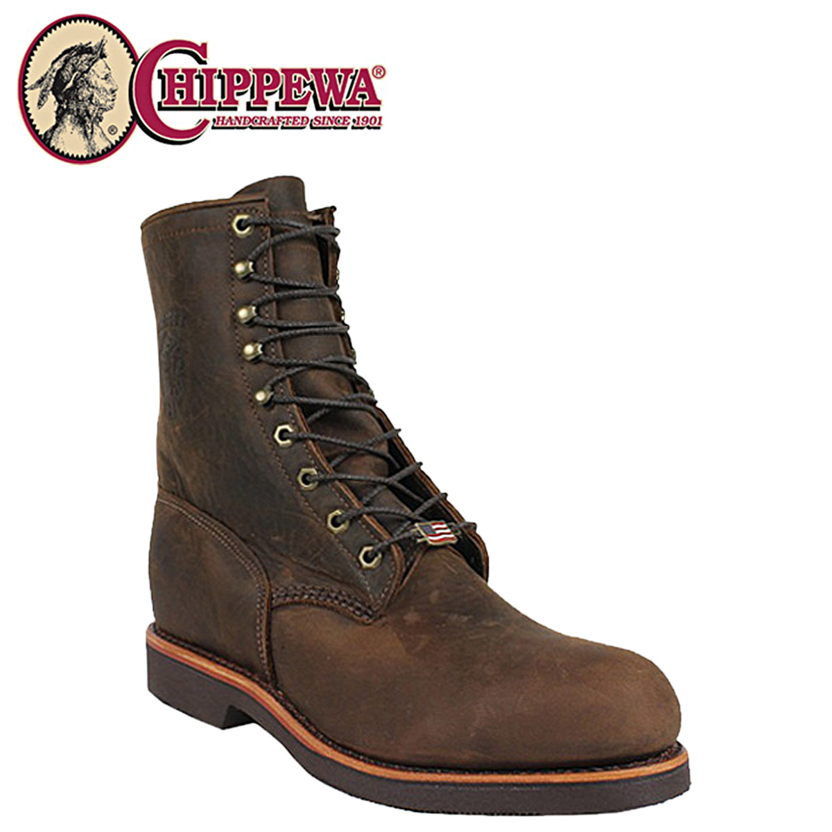 4d85250647b [SOLD OUT]-Chippewa CHIPPEWA work boots [Bay Apache, 20071 8INCH STEEL-TOE  LACE UP leather CHOCOLATE APACHE, EE wise mens 8 inch lace-up steel to boot