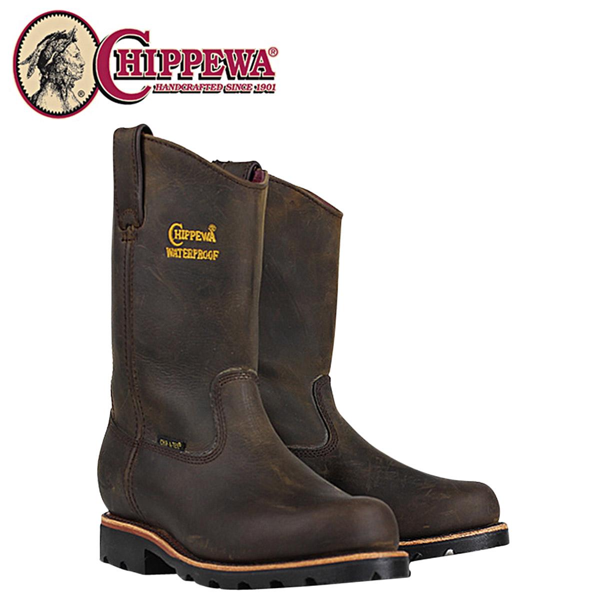 奇珀瓦奇珀瓦 10 英寸工作靴 [湾 Apache] 25216 10 英寸湾疯狂马防水 2 智者皮革男式湾阿帕奇