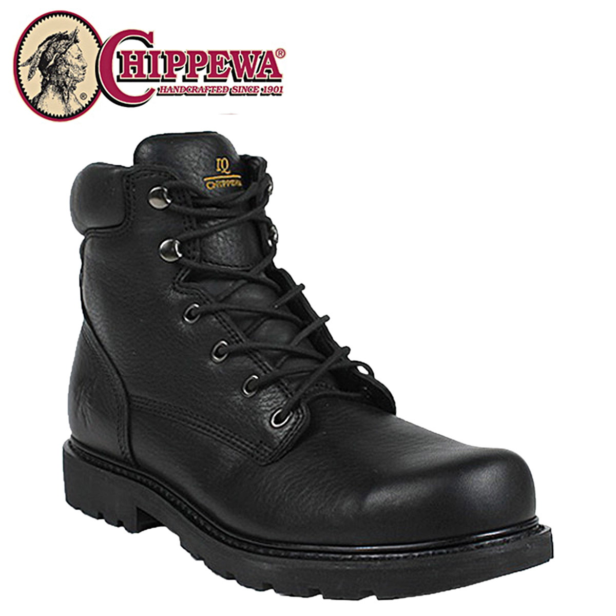a9a2ec009ff Chippewa CHIPPEWA work boots Bay Apache 55121 6INCH BLACK STEEL TOE IQ  BOOTS M wise leather 6 inch black steel to boots mens