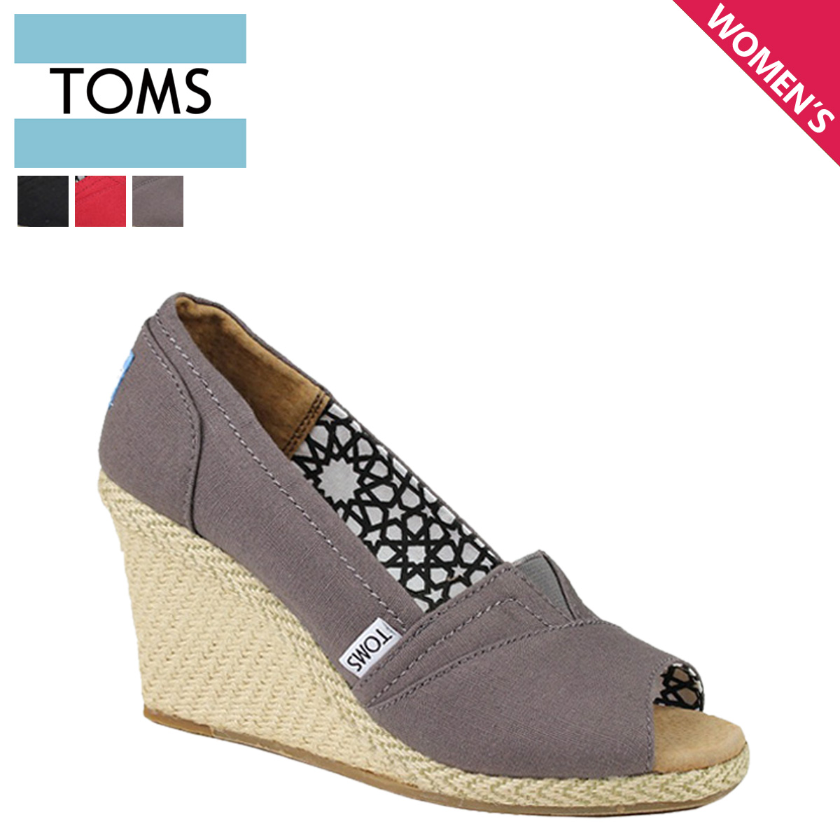 ALLSPORTS: Thoms shoes TOMS SHOES Lady's sandals CALYPSO CANVAS WOMEN'S WEDGES Tom's Thoms shoes | Rakuten Global Market