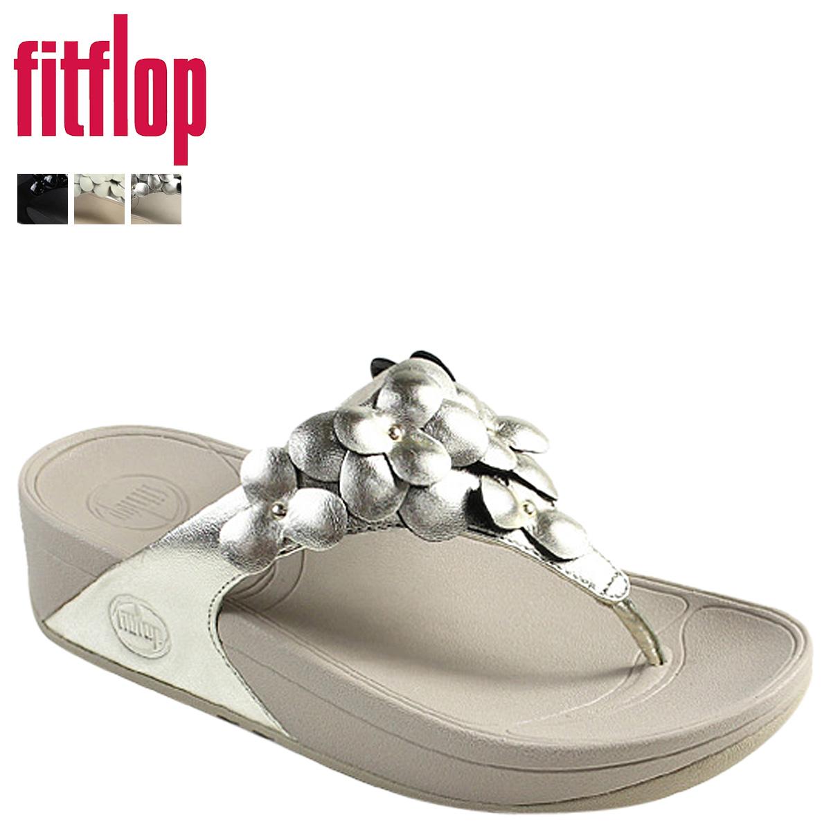 [SOLD OUT]合身FLOP FitFlop凉鞋3彩色180-001 180-010 180-194 FLEUR SANDAL皮革富勒女士