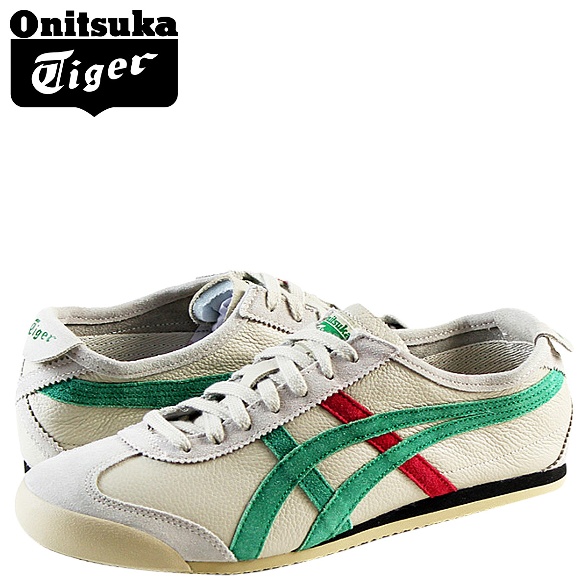 uk availability be3cc 19d7e Onitsuka Tiger ASICs Onitsuka Tiger asics sneakers D2J 4L-0584 MEXICO 66  VINTAGE LEATHER leather men's Mexico 66 vintage leather