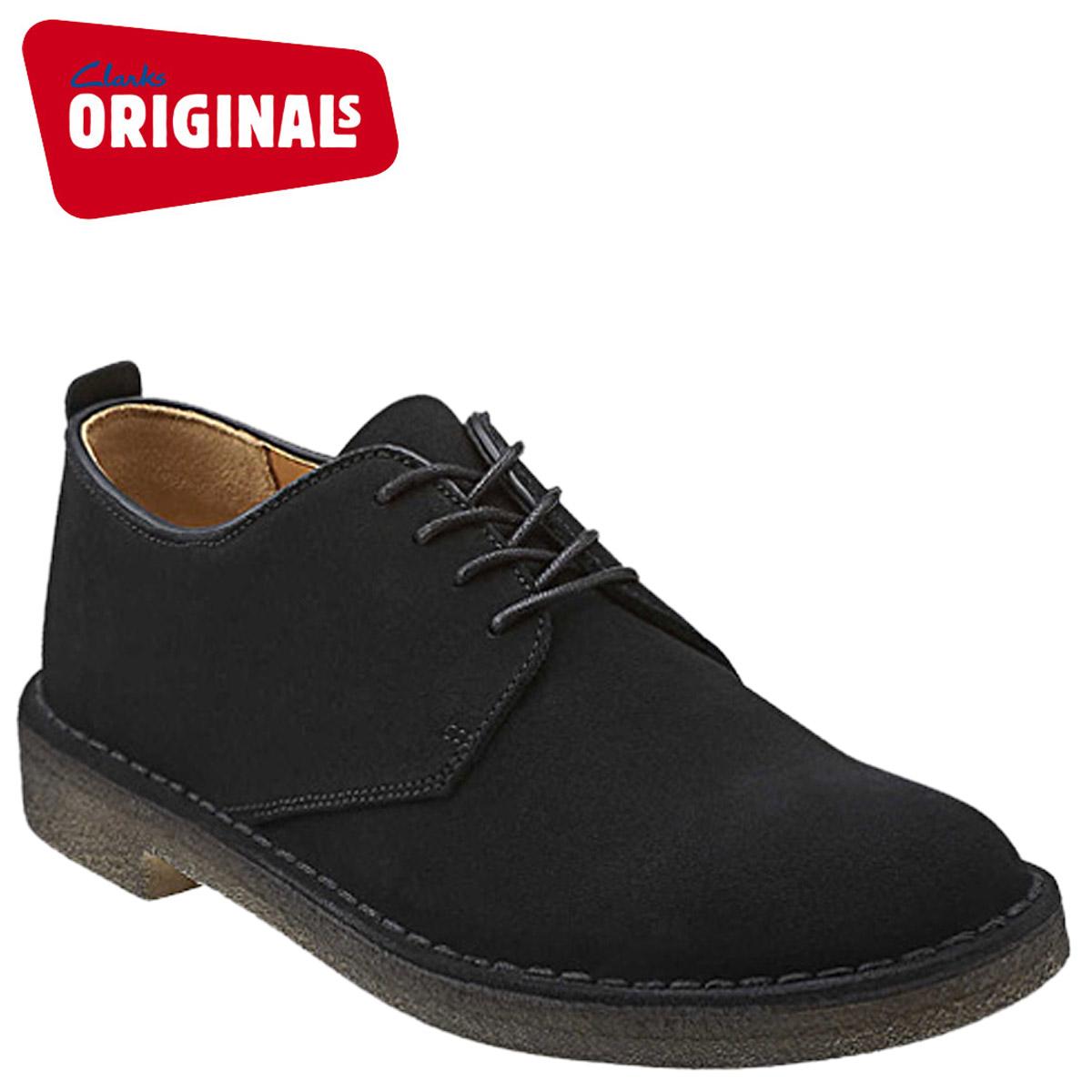 SOLD OUT  Clarks originals Clarks ORIGINALS desert London lace-up shoes   Black  66008 DESERT LONDON suede men s suede  regular  b0b38c65ebfd