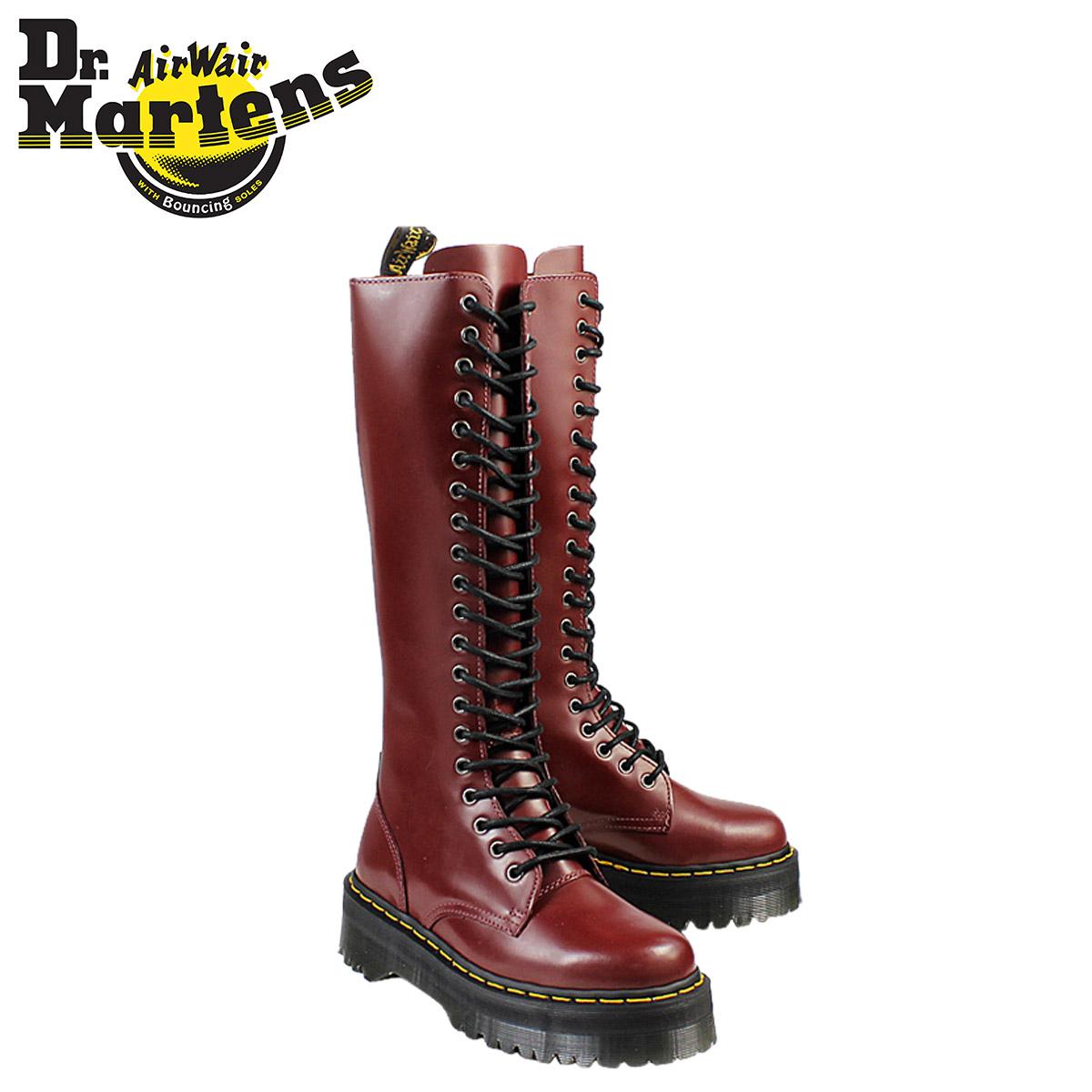 a91131d0081 Point 2 x leather ladies men's Dr. Martens Dr.Martens 20 hole boots [Cherry  Red] R15264601 BRITAIN [regular] 02P13Dec14