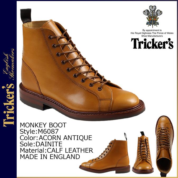 """點 5 x 轟動一時,騙子的猴子靴天晚上排序 [阿肯古董""""M6087 猴子引導 5 明智小牛皮革男裝作出在英格蘭猴子靴"""