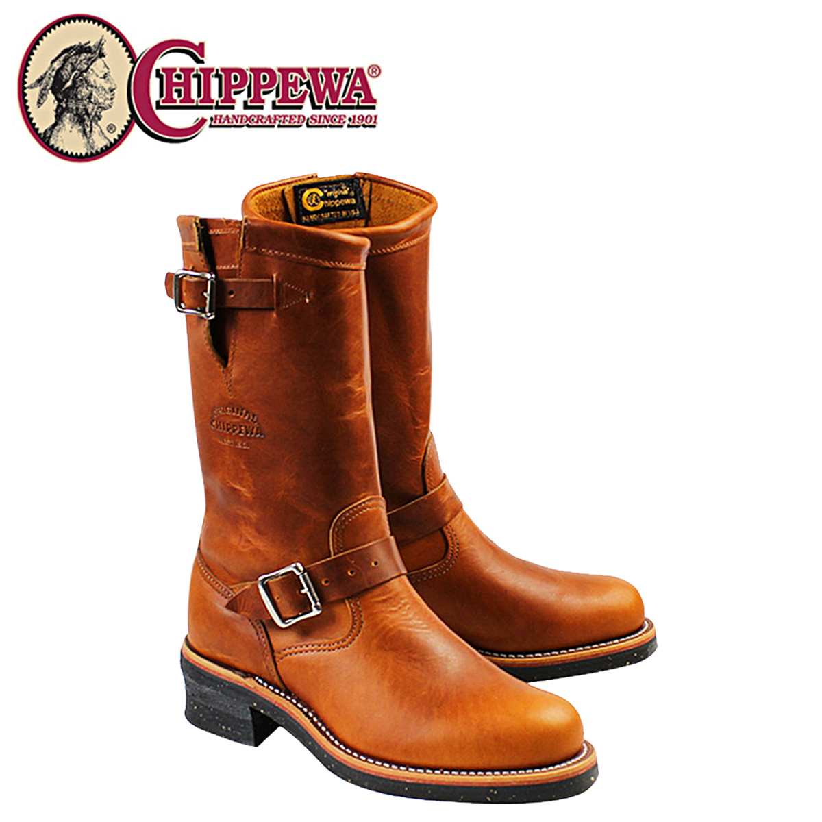 CHIPPEWA チペワ 11INCH TAN RENEGADE PLAIN TOE ENGINEER boots 11 inches plane toe engineer 1901M50 E Wise Chinese noodles with fried vegetables