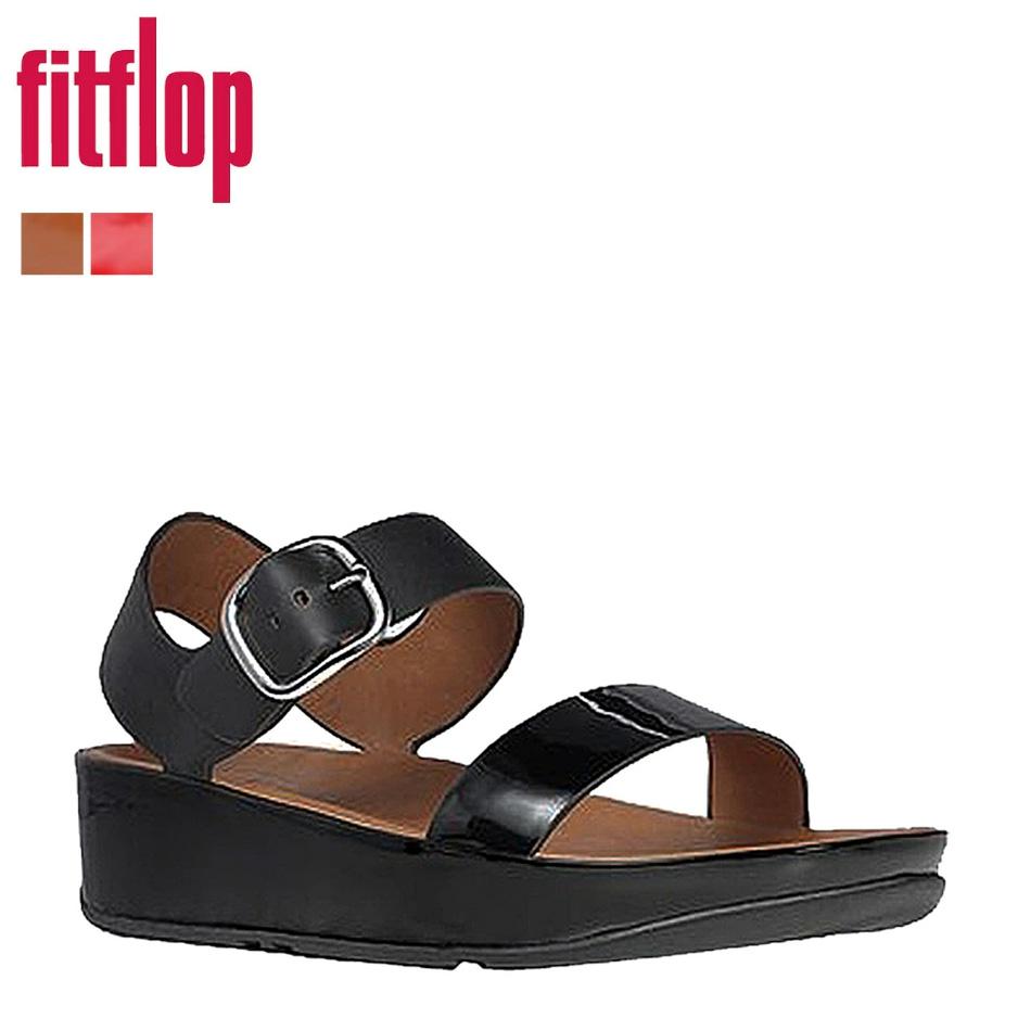 3 色适合触发器 FitFlop 妇女专利 BON Bon 凉鞋漆皮搪瓷 309 [真正]
