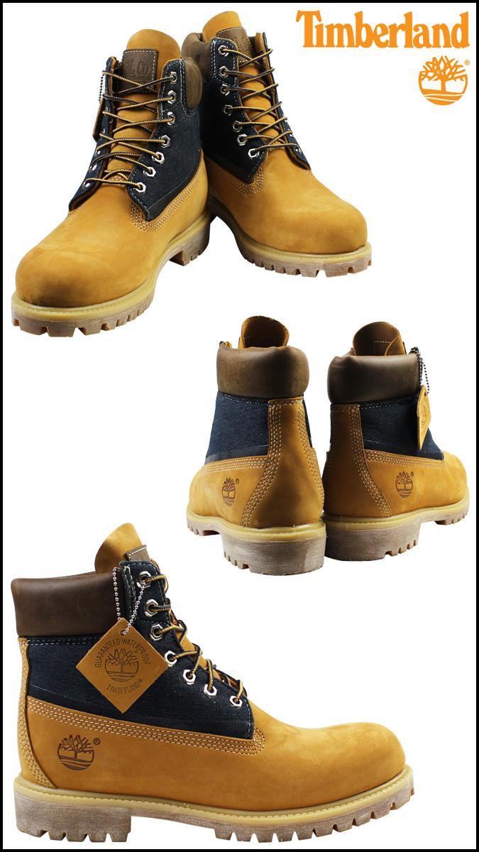 Svart Timberland Menns 6 Tommers Klassiske Støvler Hvete / Denim CuUh5