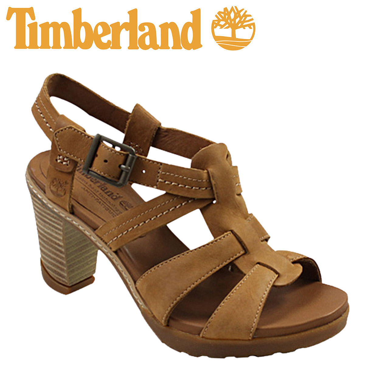 ALLSPORTS   SOLD OUT  Timberland Timberland Womens kids Earthkeepers  Stratham heights sandal ankle strap  dark Tan  EK STRATHAM HEIGHT SDL ANK  leather 8137R ... e6a8c998b