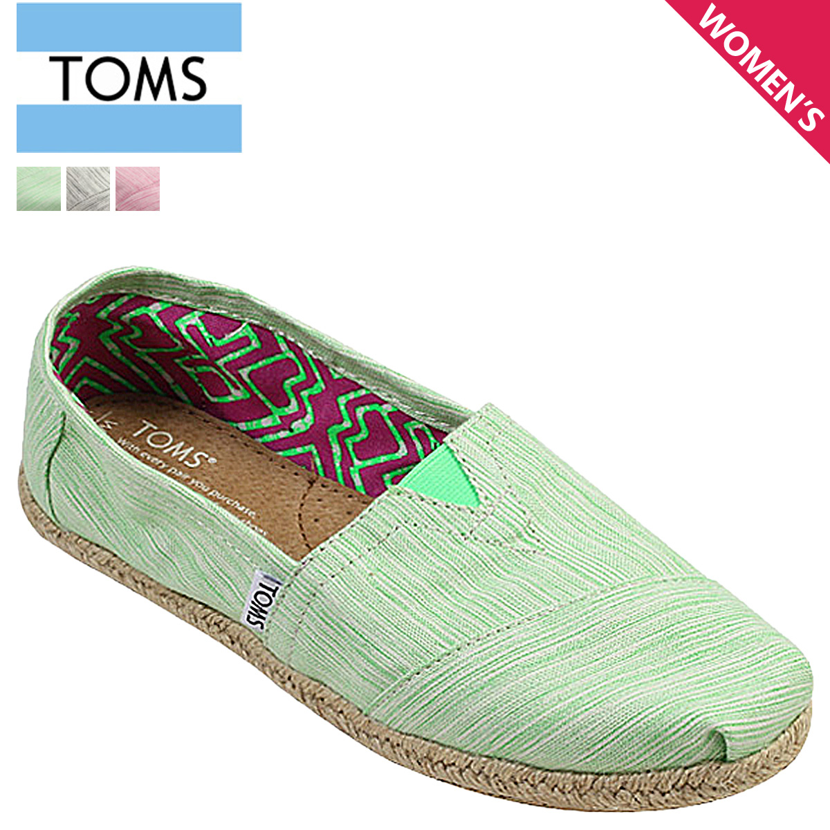 best service 18628 2eb31 Thoms shoes TOMS SHOES Lady's slip-ons SPACE-DYED WOMEN'S CLASSICS Tom's  Thoms shoes