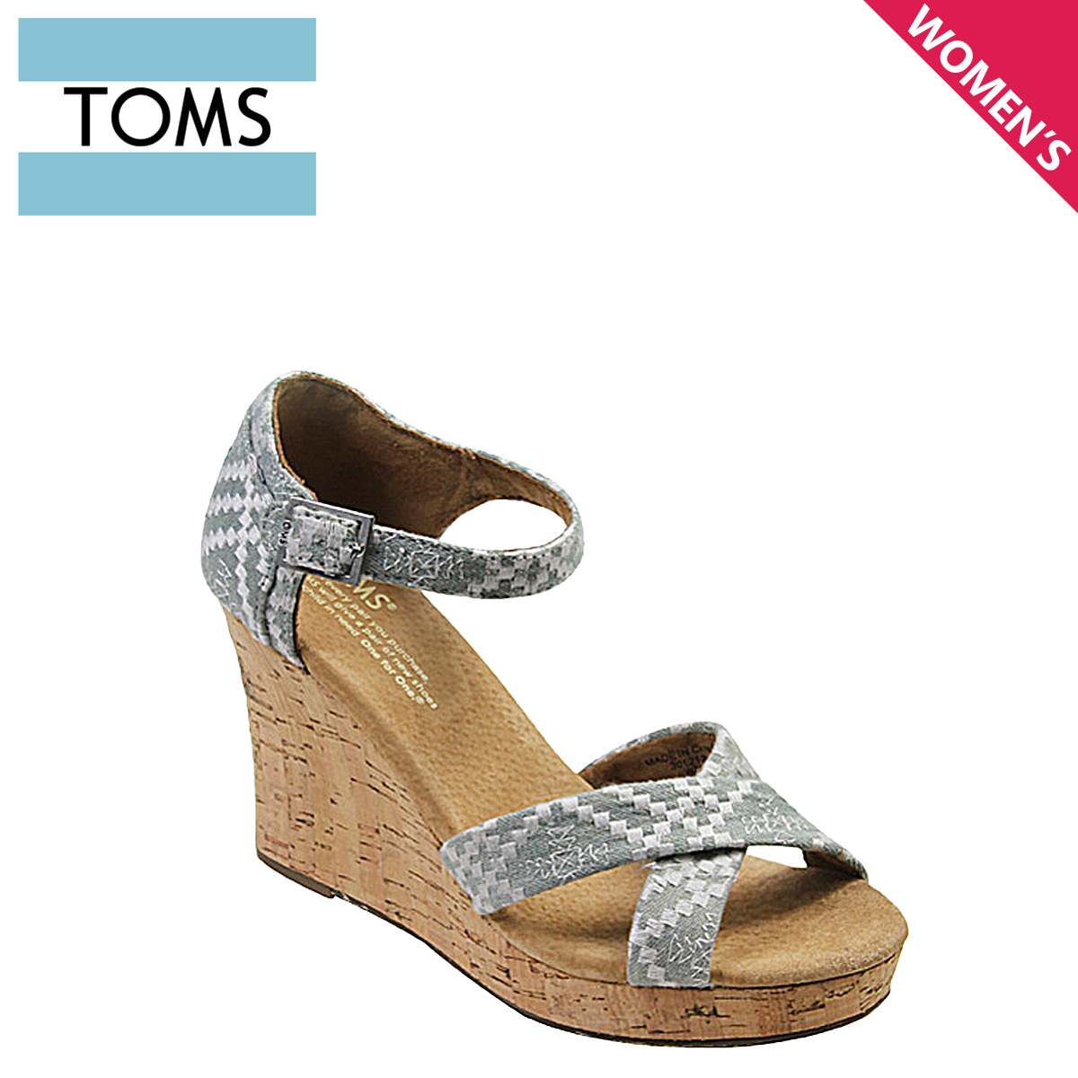 5029438d340 Thoms shoes TOMS SHOES Lady s sandals EMBROIDERED WOMEN S STRAPPY WEDGES  Tom s Thoms shoes