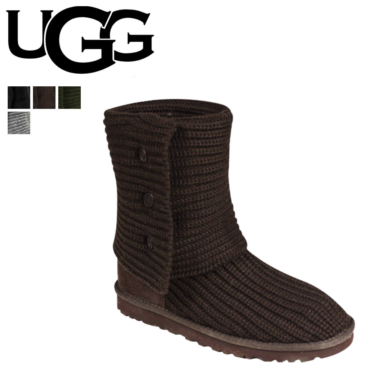 be8f50b0289 UGG UGG womens classic Cardy boots 5819 WOMENS CLASSIC CARDY Womens  Sheepskin