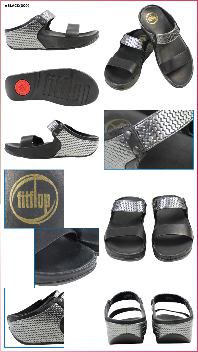 适合触发器 FitFlop 妇女的阿姆斯特丹凉鞋皮革舒适凉鞋 2014 年,新的 400 2 颜色 [8 月开始的新的股票] [定期]