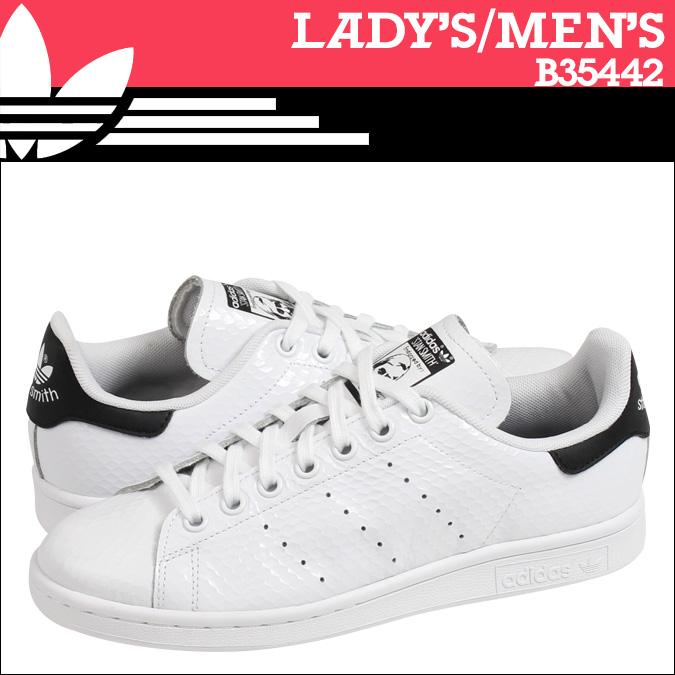 [卖出] 阿迪达斯原件阿迪达斯原件女装斯坦史密斯 W 运动鞋斯坦史密斯女人皮革男装 B35442 白色黑色