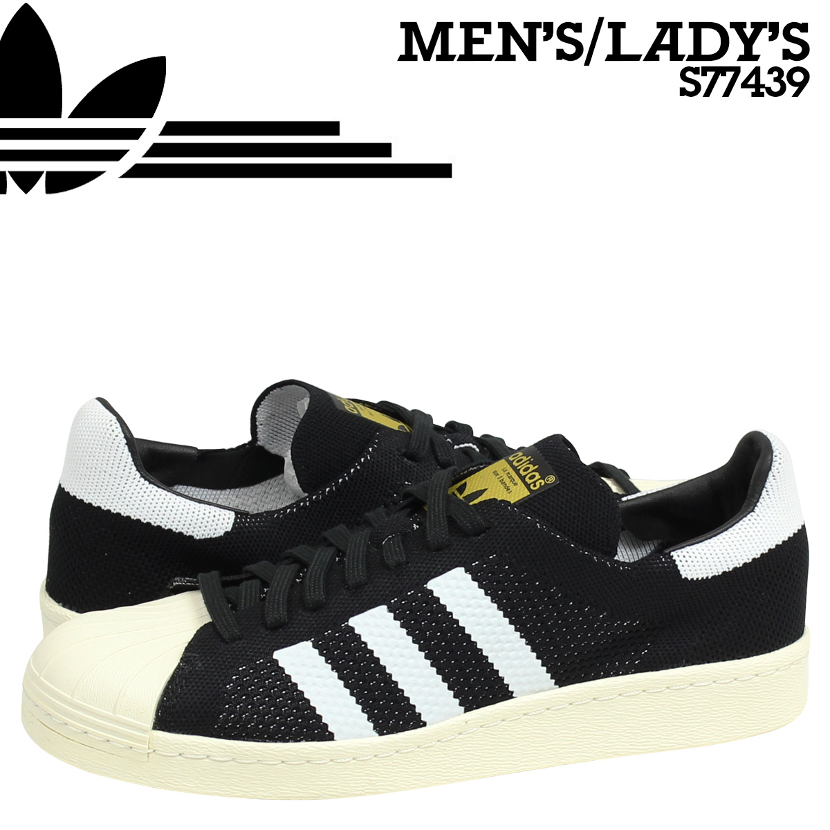 best sneakers b49f6 7d30d ALLSPORTS  Adidas originals adidas Originals mens Womens SUPERSTAR 80S  CONSORTIUM PRIME KNIT sneakers Super Star Consortium Prime knit S77439 black  white ...