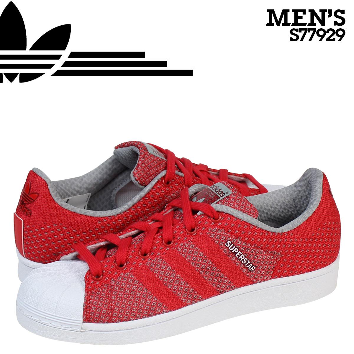 Adidas originals adidas Originals mens Womens SUPERSTAR WEAVE sneakers  Super Star weave S77929 Red [9/4 new in stock]