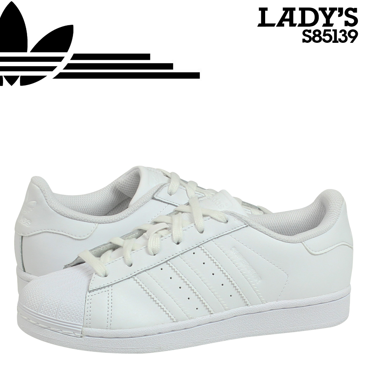 check out 4bee3 e0220 Adidas originals adidas Originals Womens SUPERSTAR W sneakers Super Star  S85139 white [8/15 new in stock]
