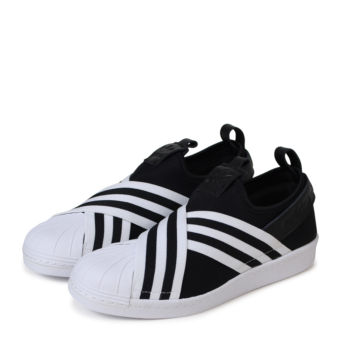 adidas Originals SUPERSTAR SLIPON W Adidas superstar Lady's slip-ons sneakers AC8582 black originals [load planned Shinnyu load in reservation product 4/19 ...