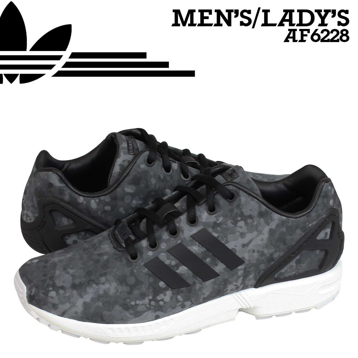 new styles f2fc3 b7574 adidas consortium Adidas originals CONSORTIUM ZX FLUX sneakers  collaboration AF6228 men gap Dis shoes black