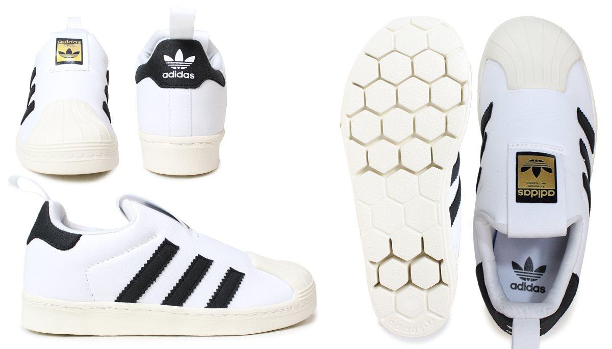 Adidas superstar kids sneakers adidas originals SUPERSTAR 360 C BA7114 S32130 shoes [2/8 Shinnyu load]