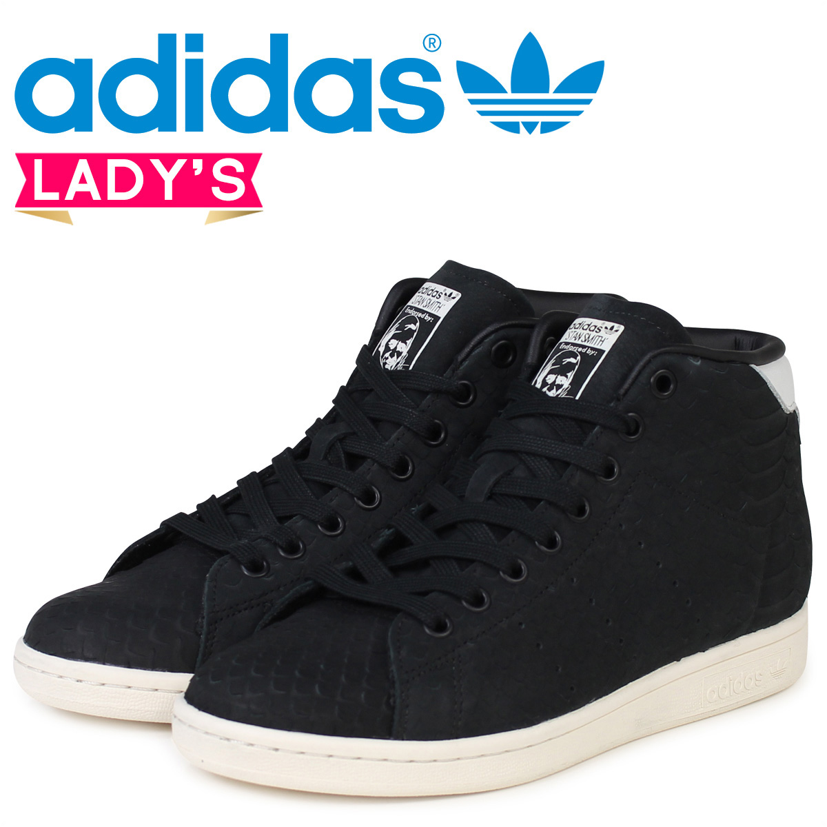 on sale 06f03 9cc01 Adidas Stan Smith Womens sneakers adidas originals STAN SMITH MID W BB4863  shoes black originals [11 / 26 new in stock]