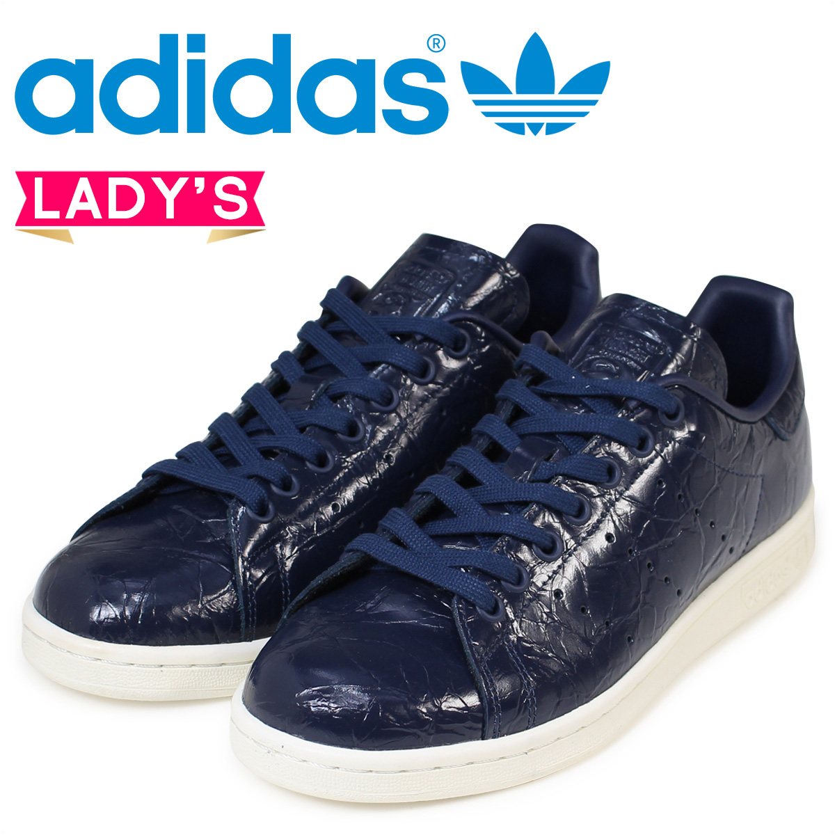 adidas Originals Stan Smith Lady's sneakers Adidas originals STAN SMITH W BB5163 shoes navy [171]