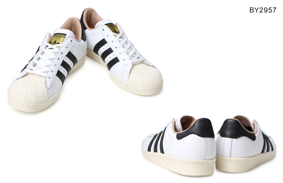 adidas Originals superstar Adidas originals Lady's sneakers SUPERSTAR 80S W BY2957 BY2958 shoes white black originals