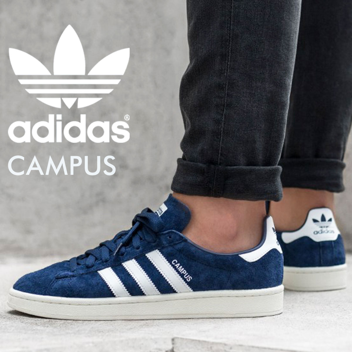 Adidas campus adidas originals sneakers CAMPUS men gap Dis BZ0086 shoes  blue 913 Shinnyu load 179