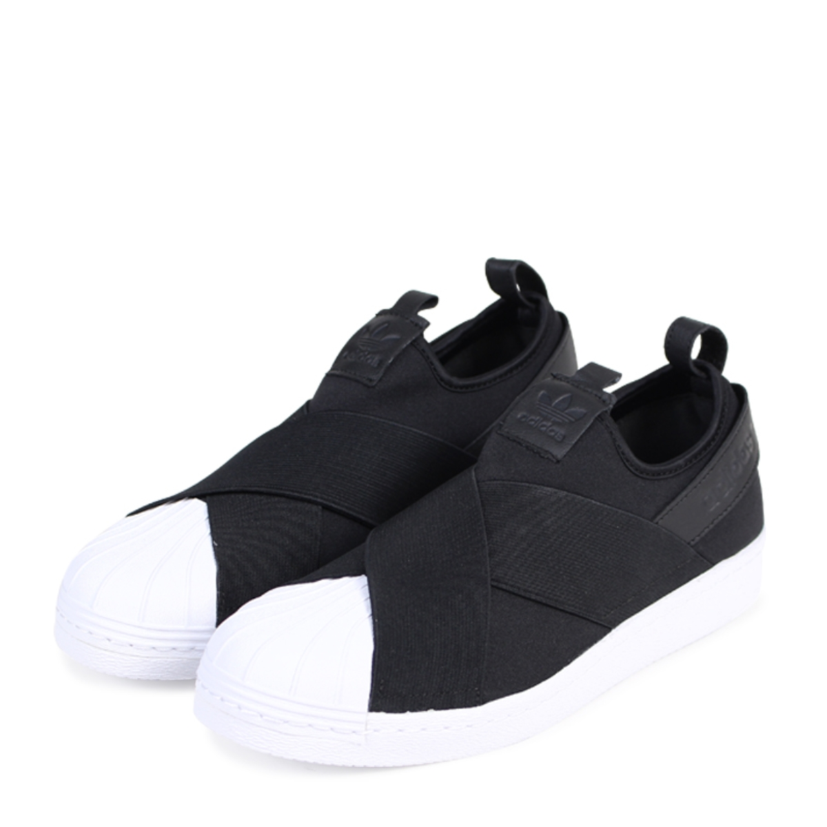 buy popular 1b11e c3129 adidas Originals SUPERSTAR SLIP-ON Adidas superstar sneakers slip-ons men  gap Dis BZ0112 black originals [1/30 Shinnyu load] [181]