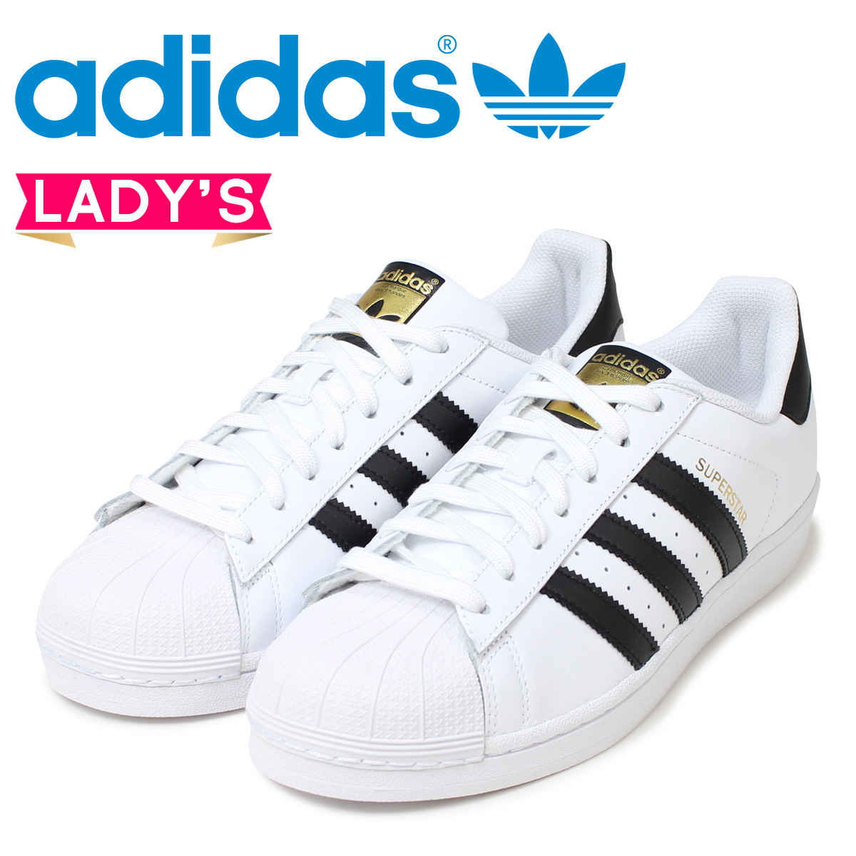 adidas Originals Adidas originals superstar women sneakers Lady's SUPERSTAR W C77153 shoes white black [198]