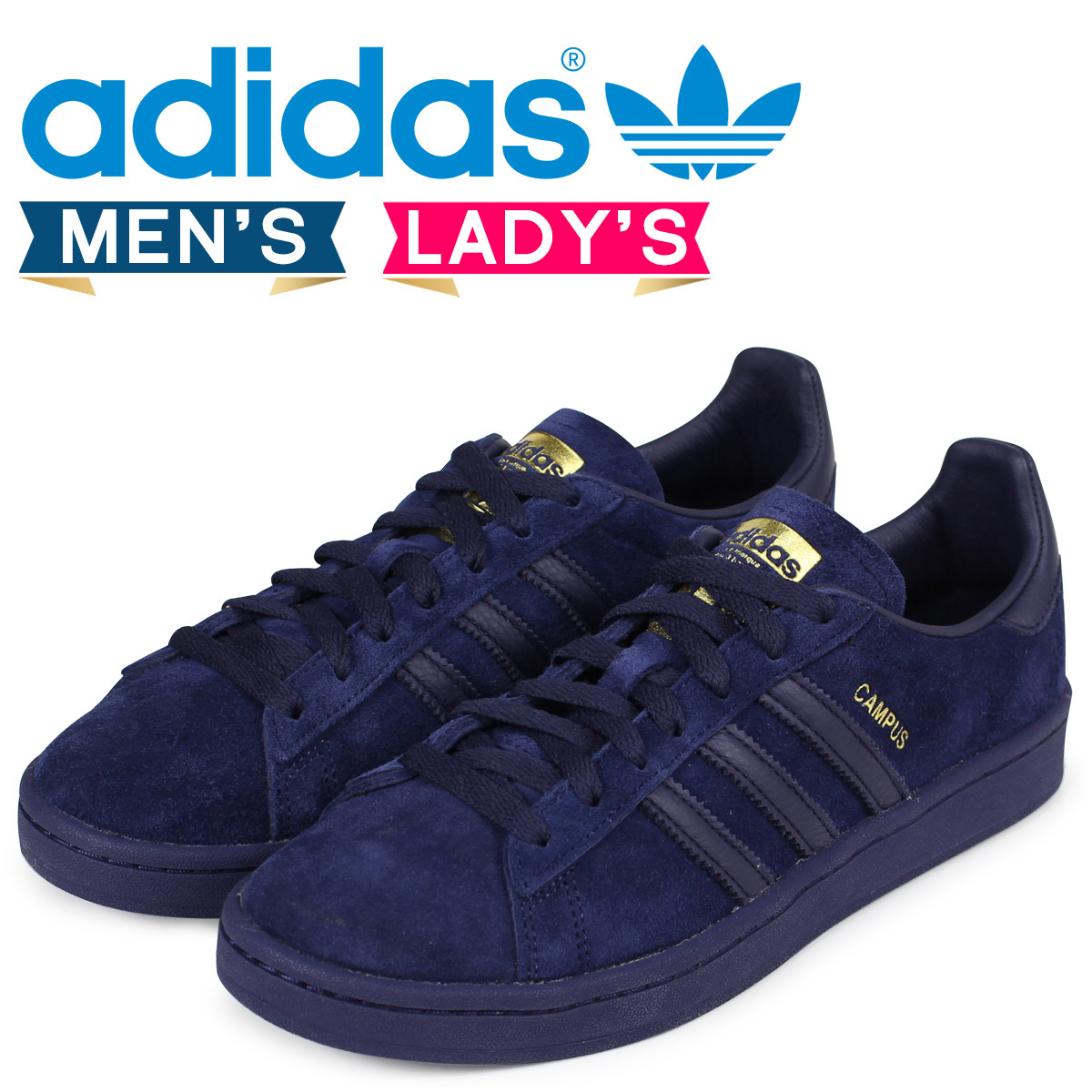 économiser ec2ab 2a495 adidas Originals CAMPUS Adidas campus sneakers men gap Dis CQ2045 navy  originals [load planned Shinnyu load in reservation product 1/18  containing] ...