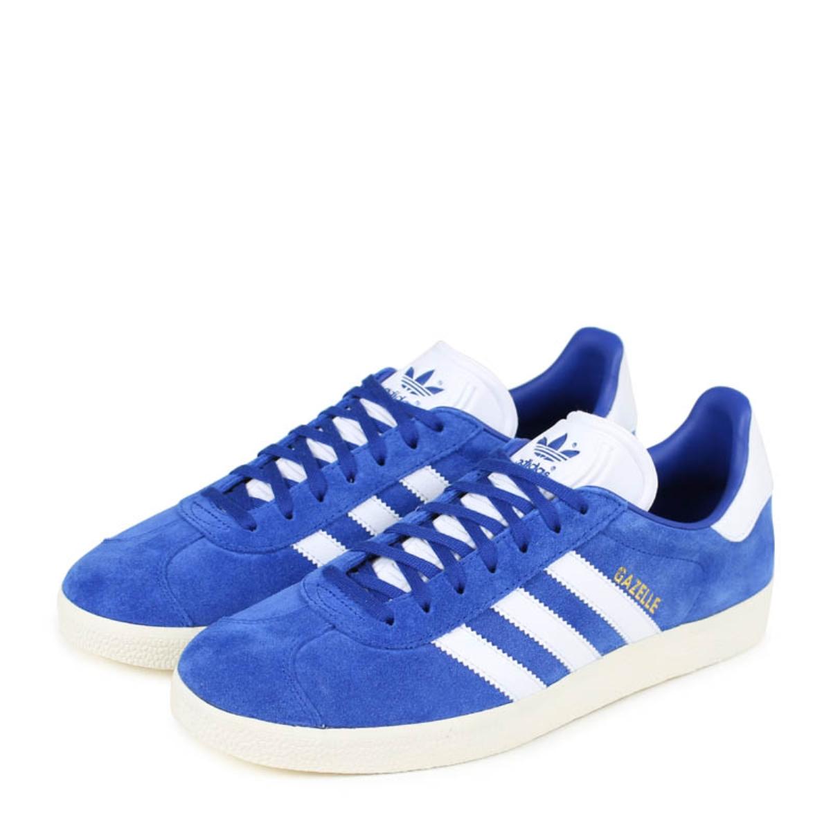 adidas originals GAZELLE ガゼルアディダススニーカーガッツレーメンズ CQ2800 blue originals [load planned Shinnyu load in reservation product 116 containing]