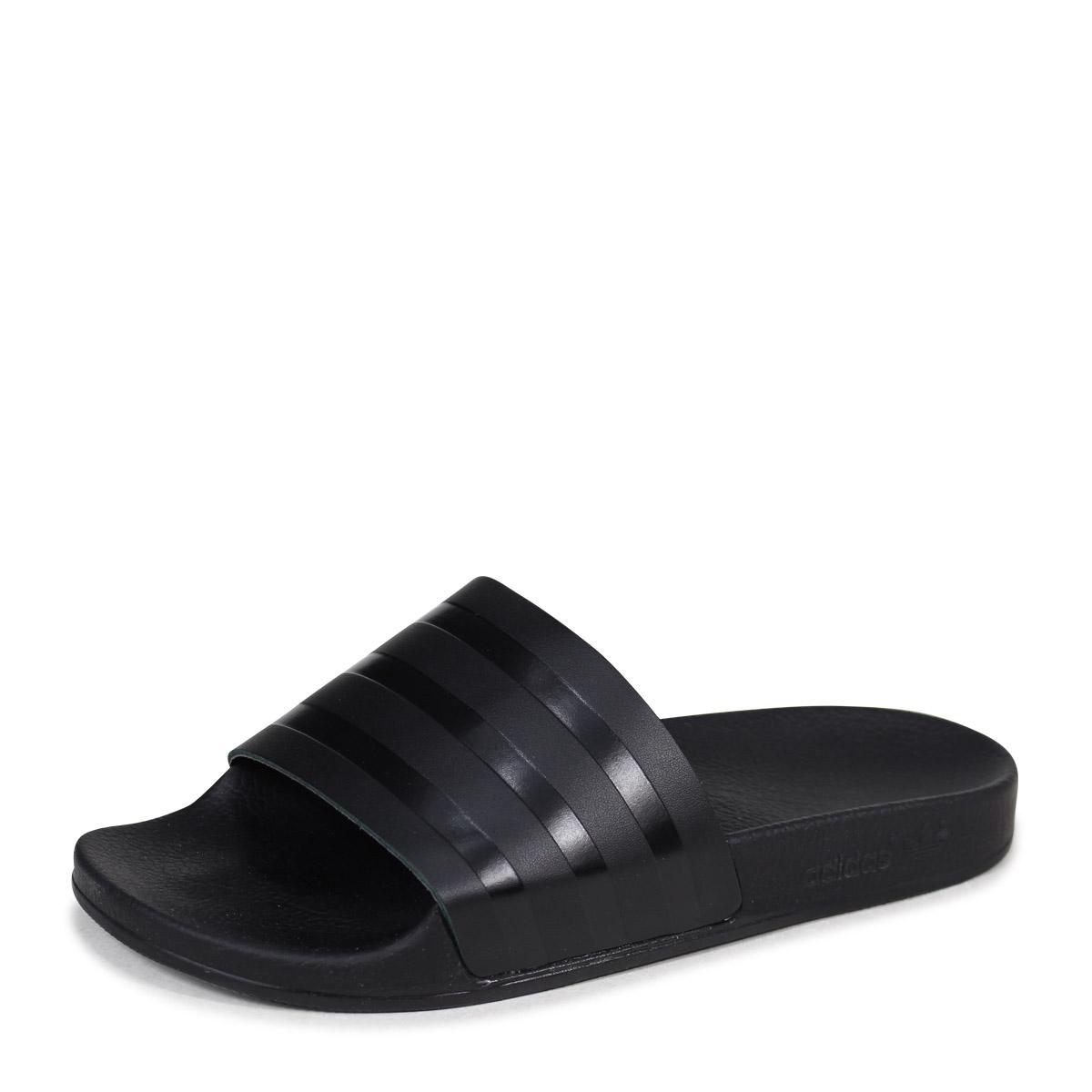 アディダスアディレッタ adidas Originals sandals shower sandals ADILETTE SLIDES men  CQ3094 black originals  4 19 Shinnyu load  0103f935520