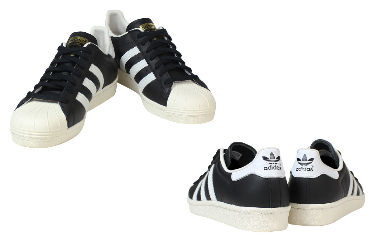 Adidas originals adidas Originals superstar sneakers SUPERSTAR 80 s G61069  men s women s shoes black  8 5 Add in stock  f18c99811034
