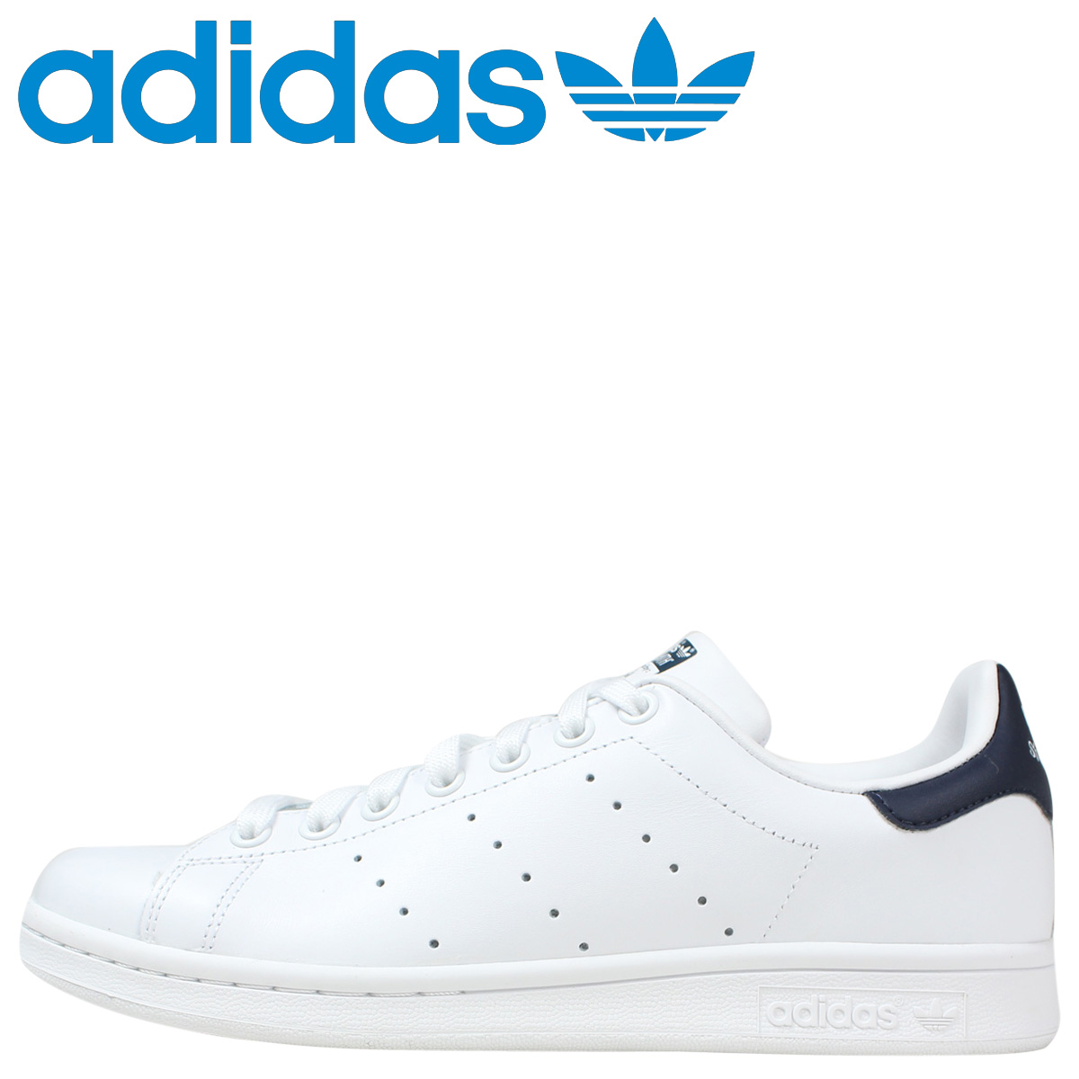 2e688a5d14ed9 Adidas originals adidas Originals STAN SMITH sneakers Stan Smith leather  men s women s M20325 White x Navy unisex  9   30 Add in stock   regular