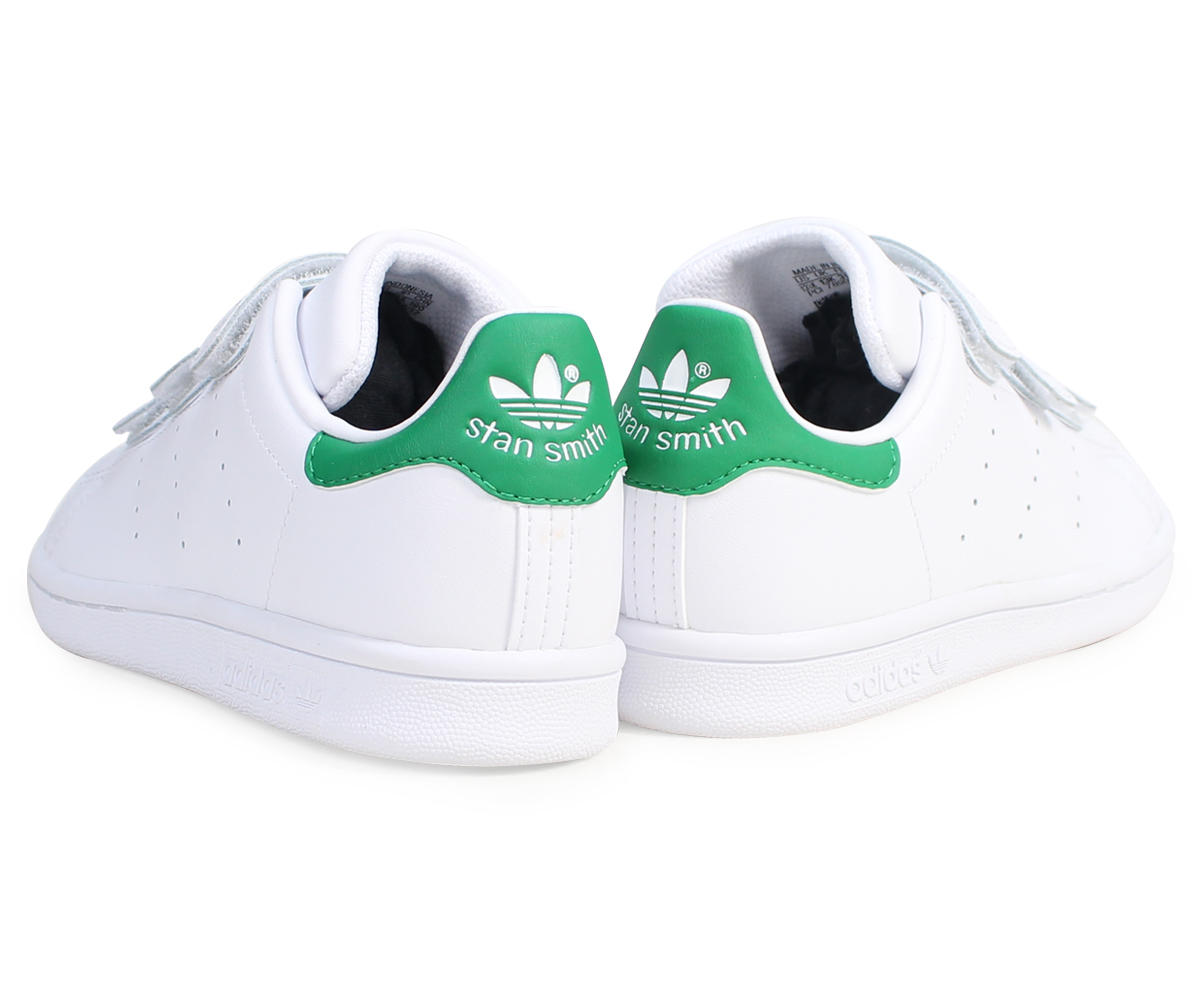 huge selection of 2c421 0a461 adidas Stan Smith Velcro kids Adidas originals sneakers STAN SMITH CF C  M20607 shoes white  8 7 Shinnyu load   178