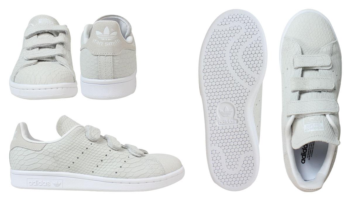 [SOLD OUT]阿迪达斯原始物adidas Originals Stan Smith铃黑运动鞋女士STAN SMITH CF W S32010鞋白