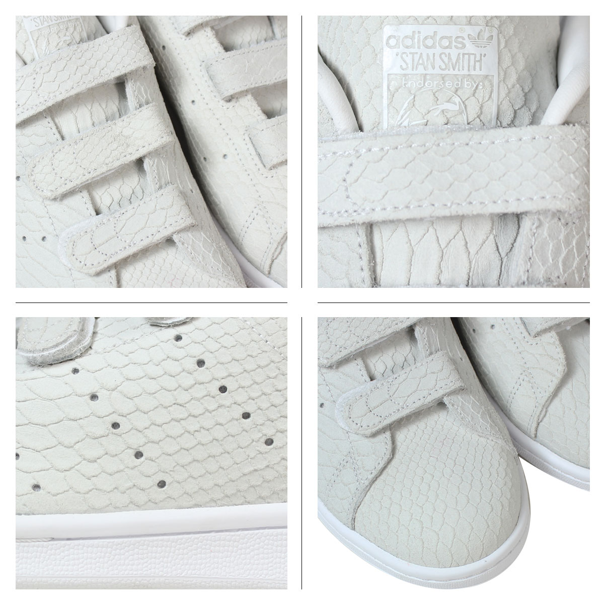 [SOLD OUT]阿迪达斯原始物adidas Originals Stan Smith铃黑运动鞋女士STAN SMITH CF W S32010鞋白