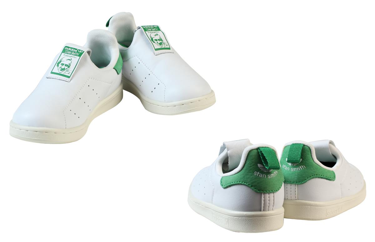 阿迪達斯原件阿迪達斯原件斯坦史密斯運動鞋嬰兒孩子斯坦史密斯 360 I S75221 鞋白色